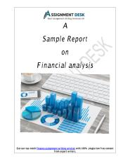 A Sample Report on Financial Analysis.pdf