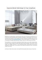 Impressive Marble Table Designs For Your Living Room.pdf