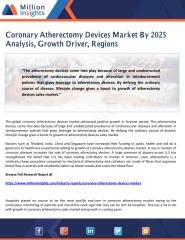 Coronary Atherectomy Devices Market By 2025 Analysis, Growth Driver, Regions.pdf