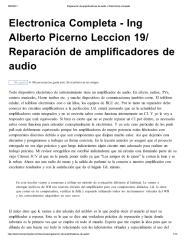 Electrónica completa Reparación de amplificadores de audio.pdf