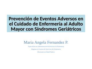 PREVENCION DE EVENTOS ADVERSOS CAIDAS.ppt