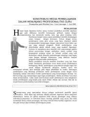 KONSTRIBUSI MEDIA DALAM MENUNJANG PROFESIONALITAS GURU.doc