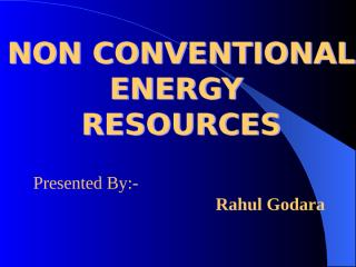 non conventional energy resources.ppt
