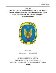 ANALISA PERFORMA PADA PEMBANGKIT LISTRIK TENAGA PICO HYDRO.doc