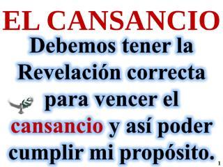 EL CANSANCIO.ppt