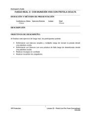 LA Spanish - Lesson 22- Pistol Live Fire From Concealment.doc